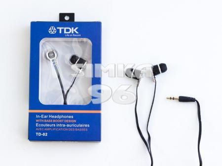 Наушники вакуумные   TDK TD - 02