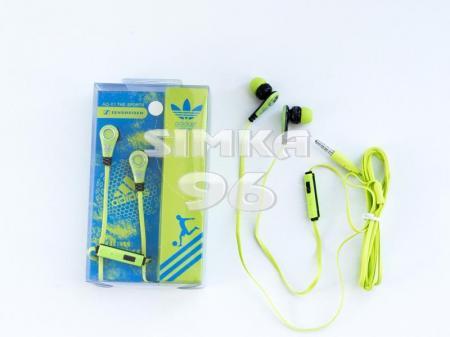 Наушники вакуумные с микрофоном  Adidas Q-01