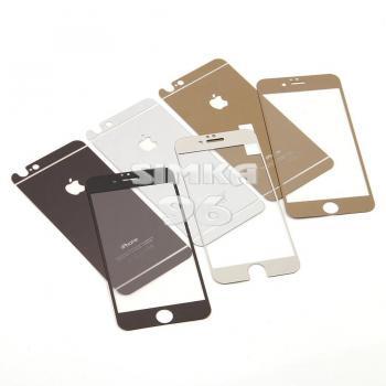 Защитное стекло для iPhone 4 цветное (двухстороннее)