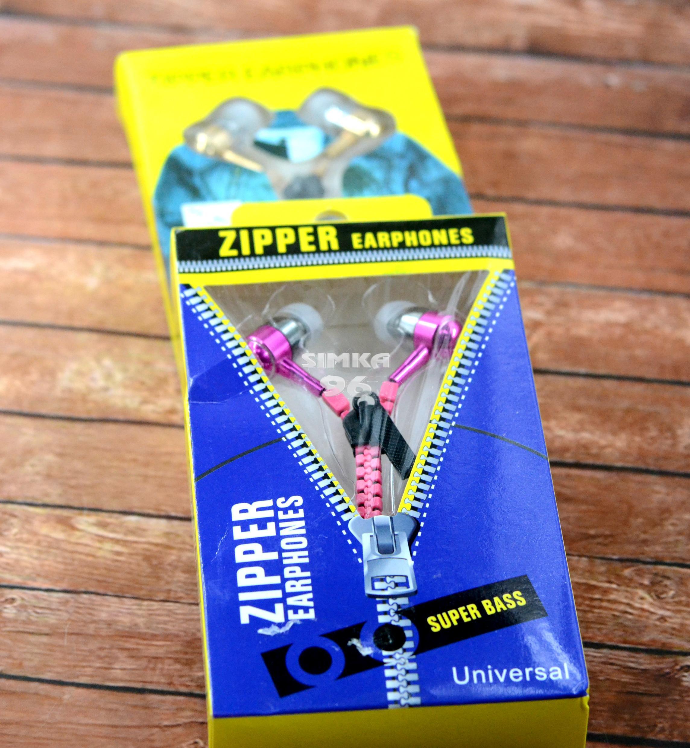 Наушники вакуумные с микрофоном  Zipper (замочек) ZP-001