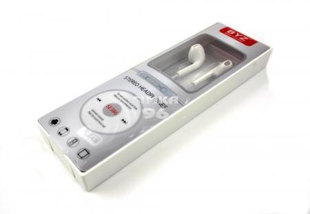 Наушники вкладыши с микрофоном  BYZ- 386