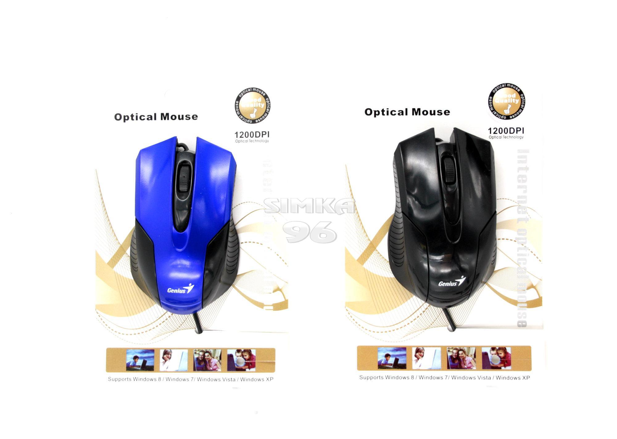 Мышь проводная Optical Mouse 1200DPI