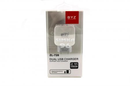 СЗУ  BYZ ZL-720 2 выходаUSB 2.1А