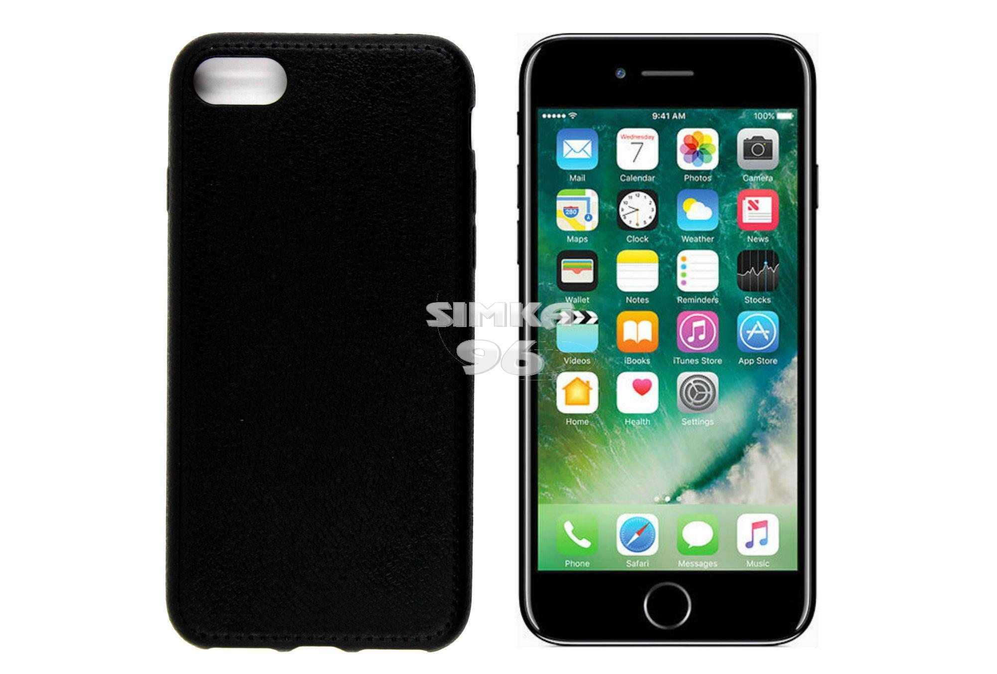 Чехол задник для iPhone 7 гель/кожа со строчкой