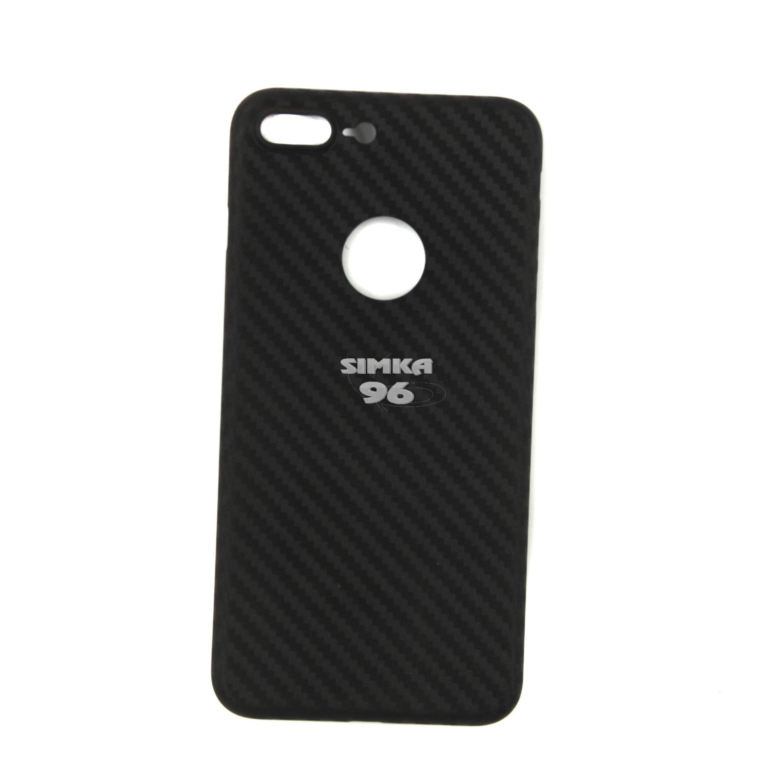 Чехол задник для iPhone 7+ карбон