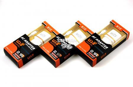 СЗУ 2в1 BYZ Micro DL-AC500 2.1A