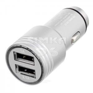 АЗУ  2 выхода USB UNION КО-22  2,1+1А  металл