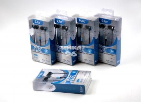 Наушники вакуумные с микрофоном  JTX - 701  (Samsung, Nokia, iPhone)
