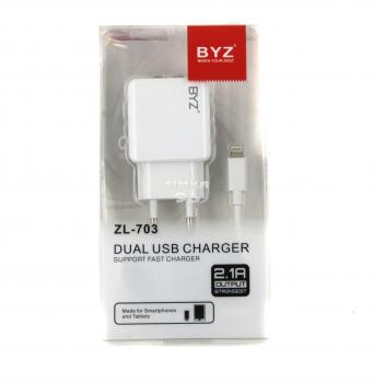 СЗУ 2 в 1 BYZ  ZL-703 iPhone 5  2.1А