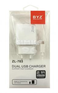 СЗУ 2 в 1 BYZ  ZL-703 micro USB 2.1А