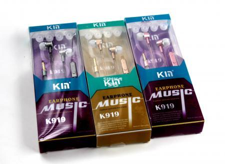 Наушники вакуумные с микрофоном  KM K919
