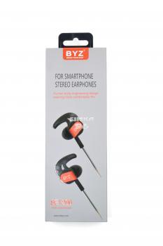 Наушники BYZ SE1200 Sport вакуумные с микрофоном