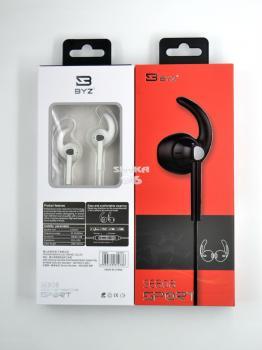 Наушники BYZ SE808 Sport вакуумные с микрофоном