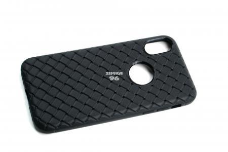 Чехол задник для iPhone Х силикон плетёный