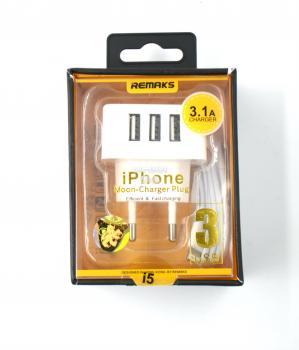 СЗУ 2/1 iPhone5 RX 3 выхода 3.1А