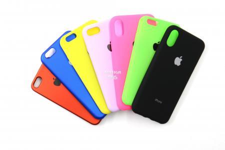Чехол задник для iPhone Х гель цветной матовый