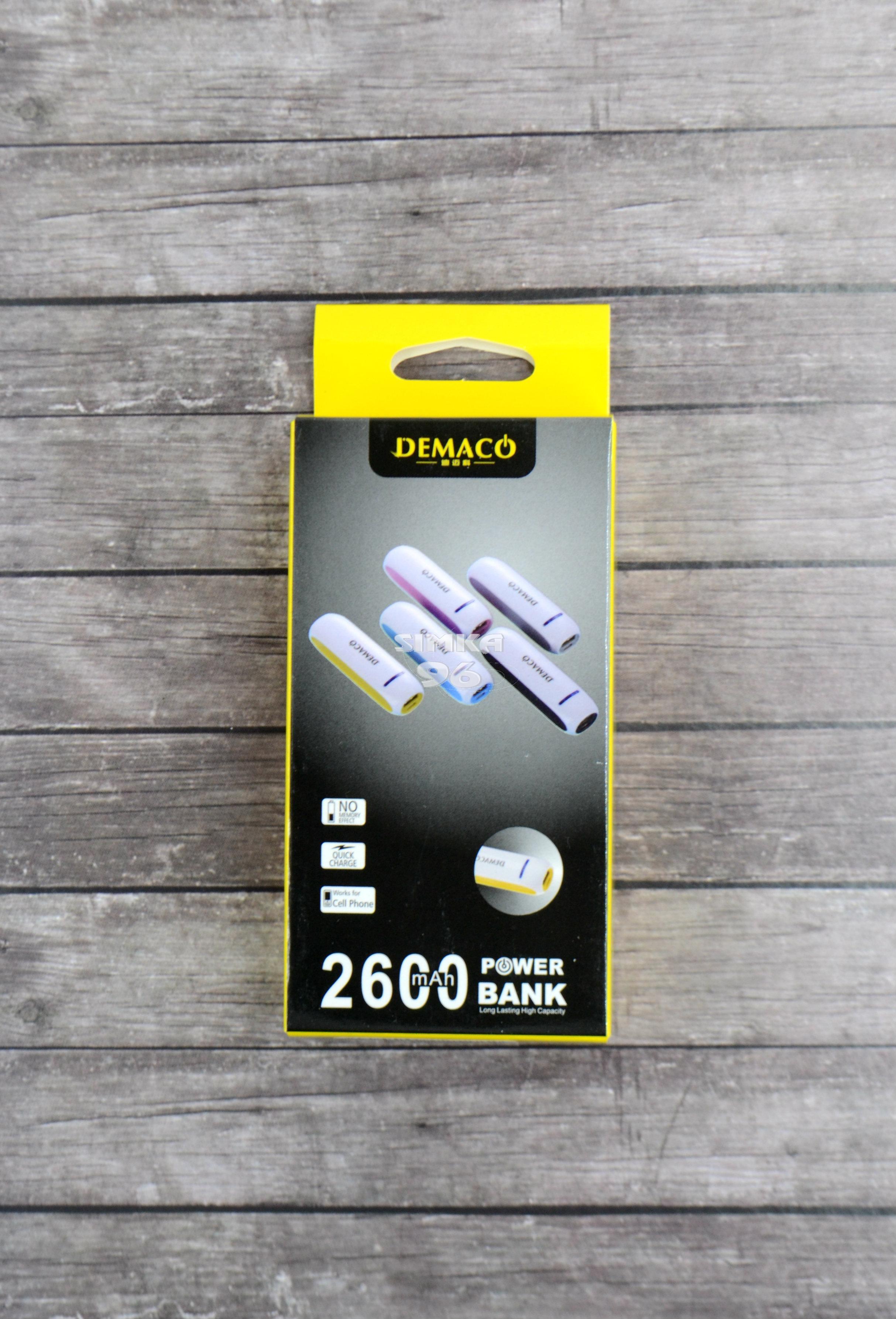 Портативное зарядное устройство  Power Bank  2600 mAh Demaco