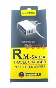 СЗУ 2 в 1 Afka-Tech RM-S4 3.0 microUSB+2 выхода 3.1A