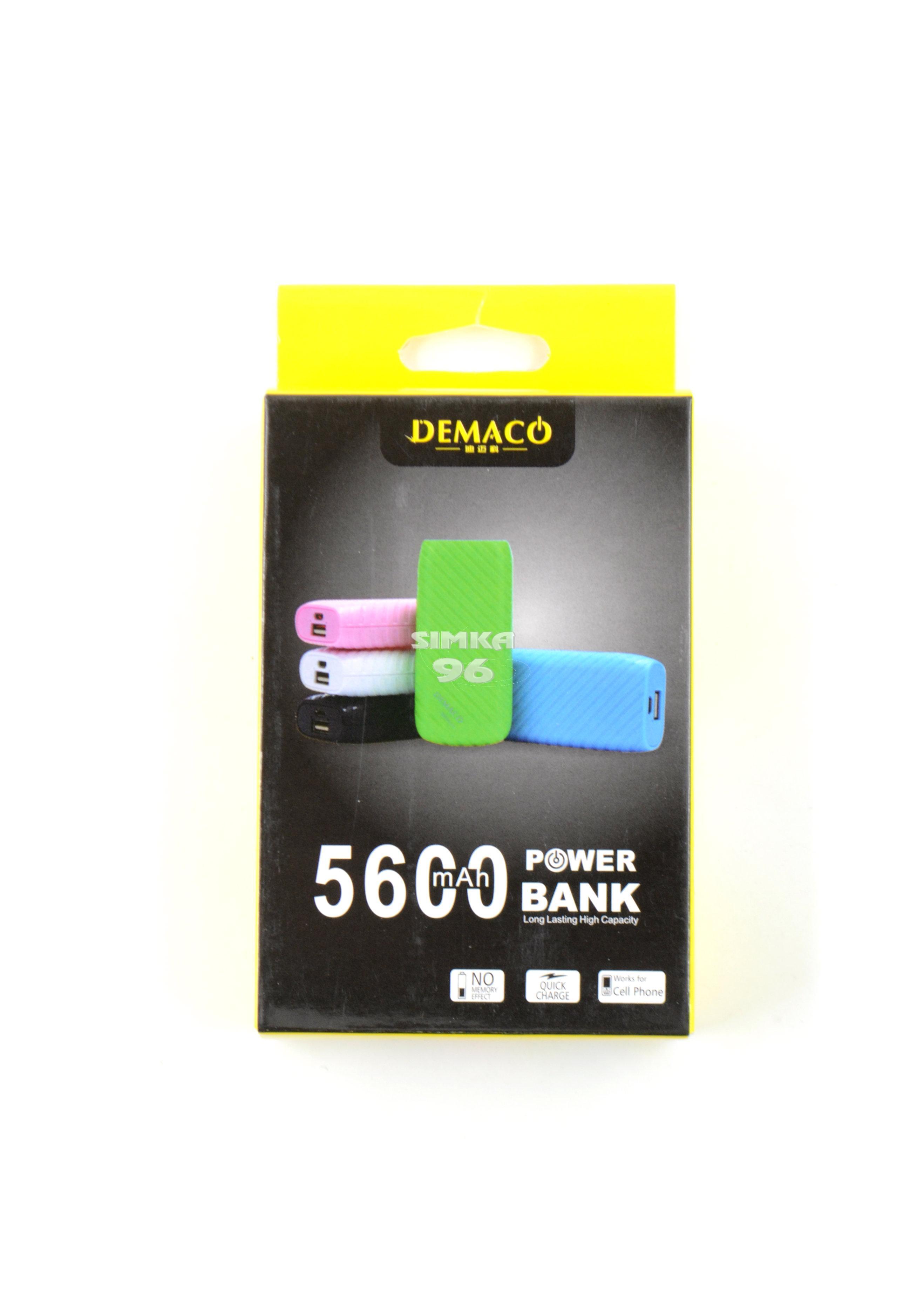 Портативное зарядное устройство  Power Bank  5600 mAh Demaco
