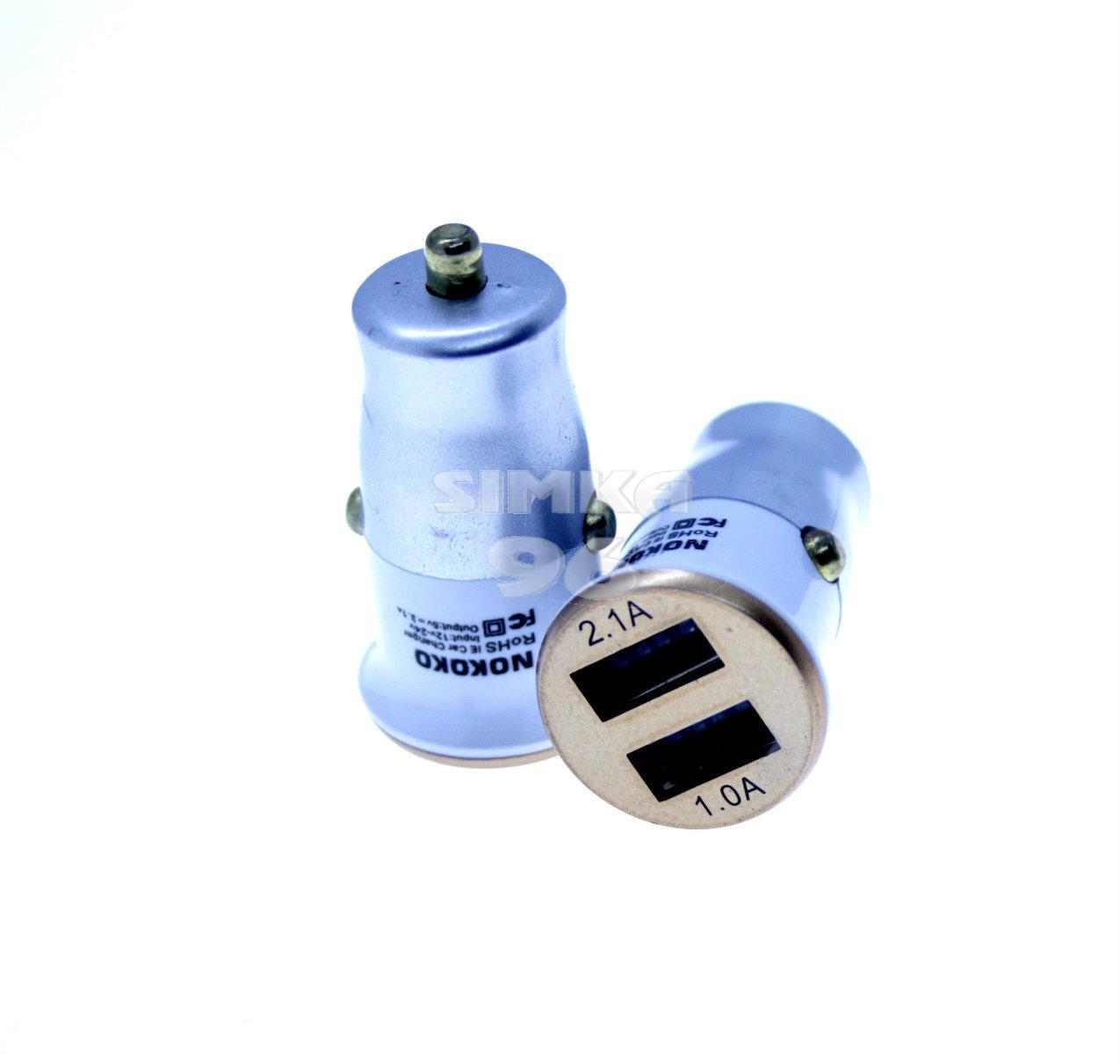 АЗУ  2 выхода USB 2,1А  Nokoko 35