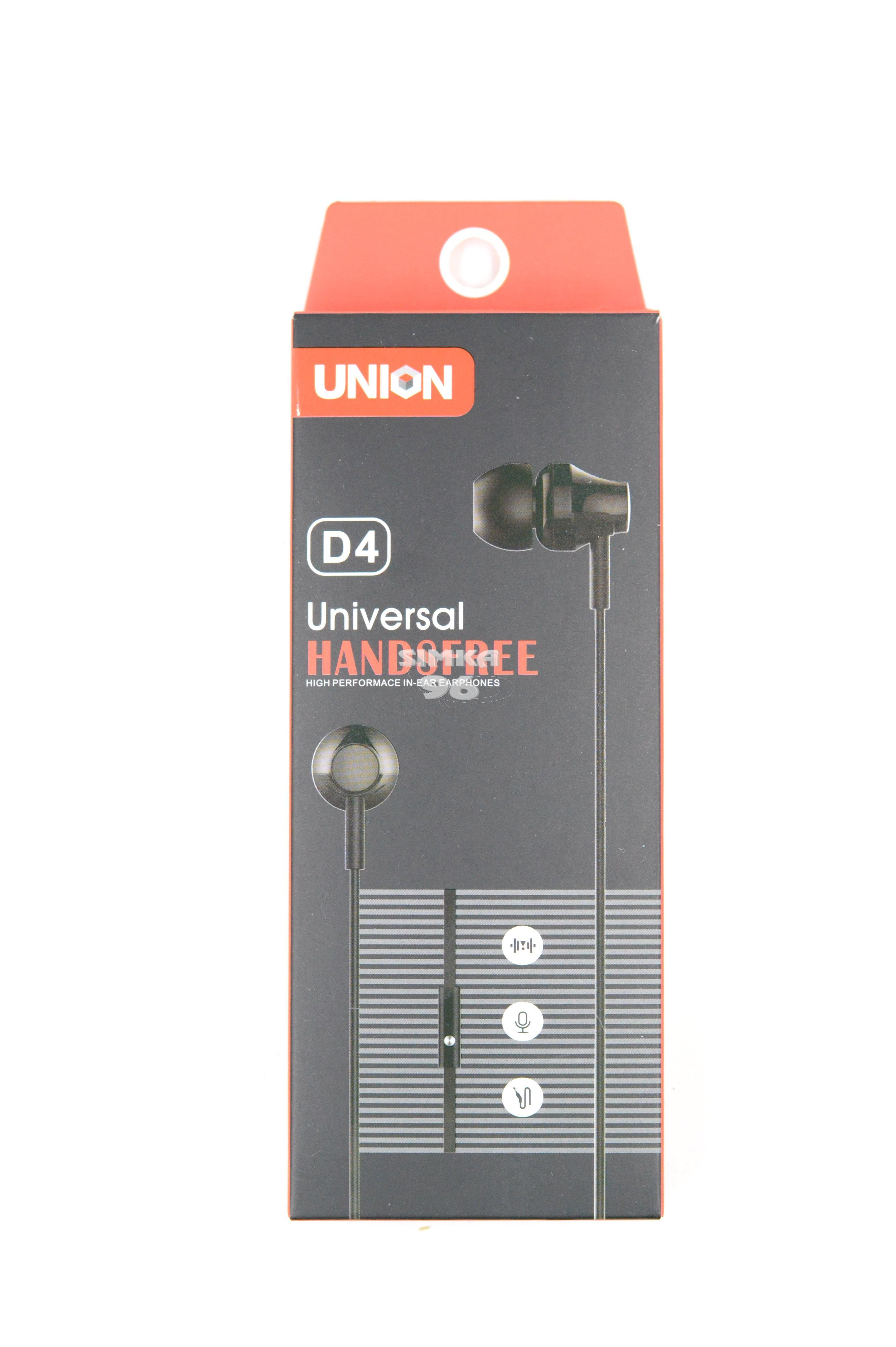 Наушники Union D-4 вакуумные с микрофоном