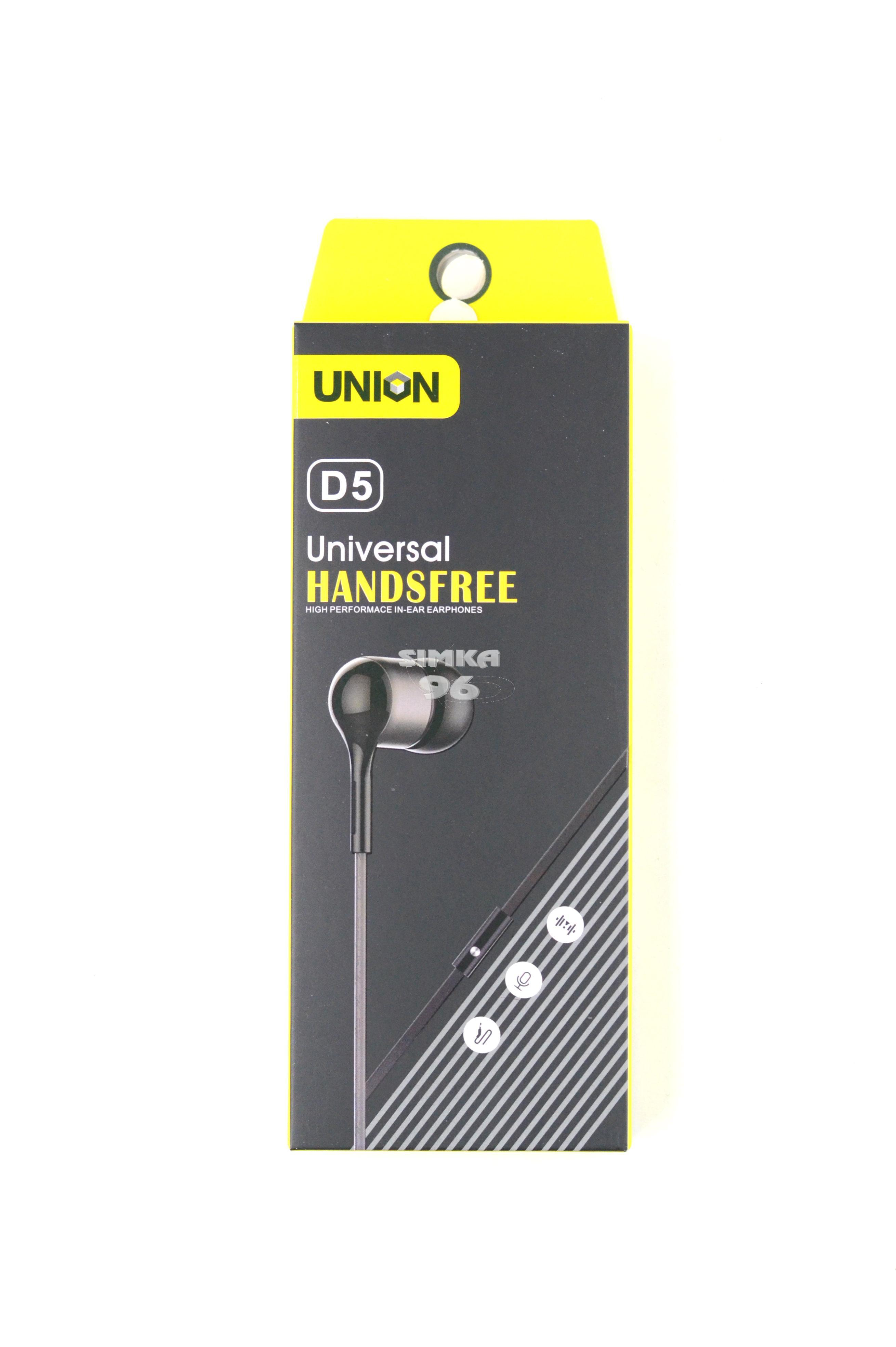 Наушники Union D-5 вакуумные с микрофоном