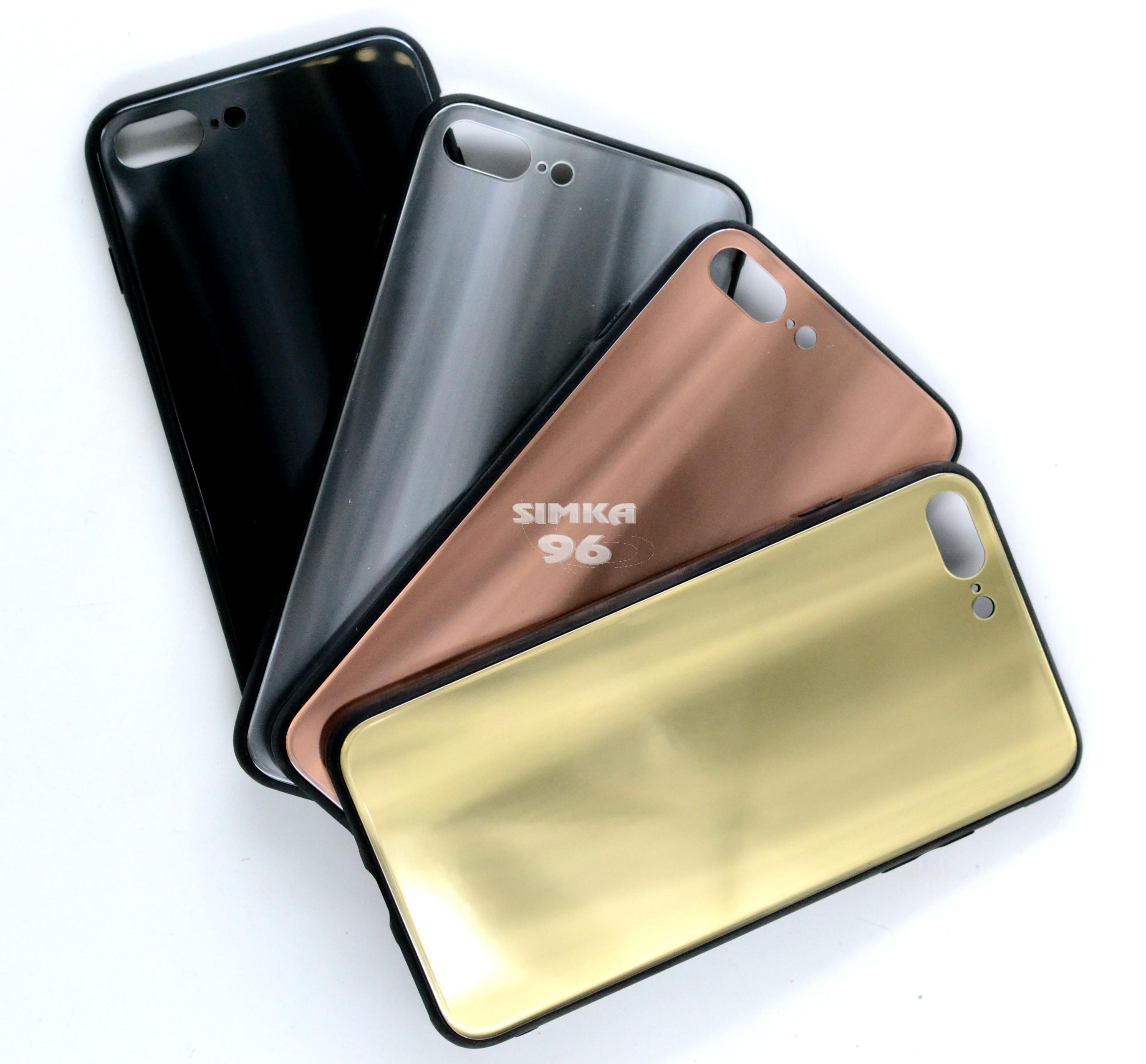 Чехол задник для iPhone 7+ пласт. хром
