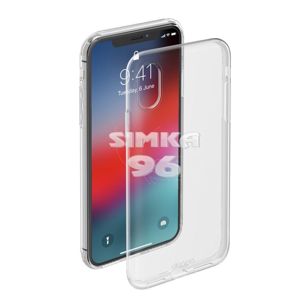 Чехол задник для iPhone Хs MAX гель плотный прозр.