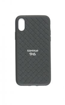 Чехол задник для iPhone Хs MAX силикон плетёный