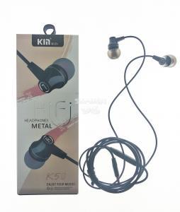 Наушники KM K-58 вакуумные с микрофоном