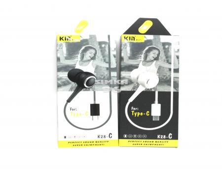 Наушники Union (KIN)К-28-Cс вакуумные с микрофоном