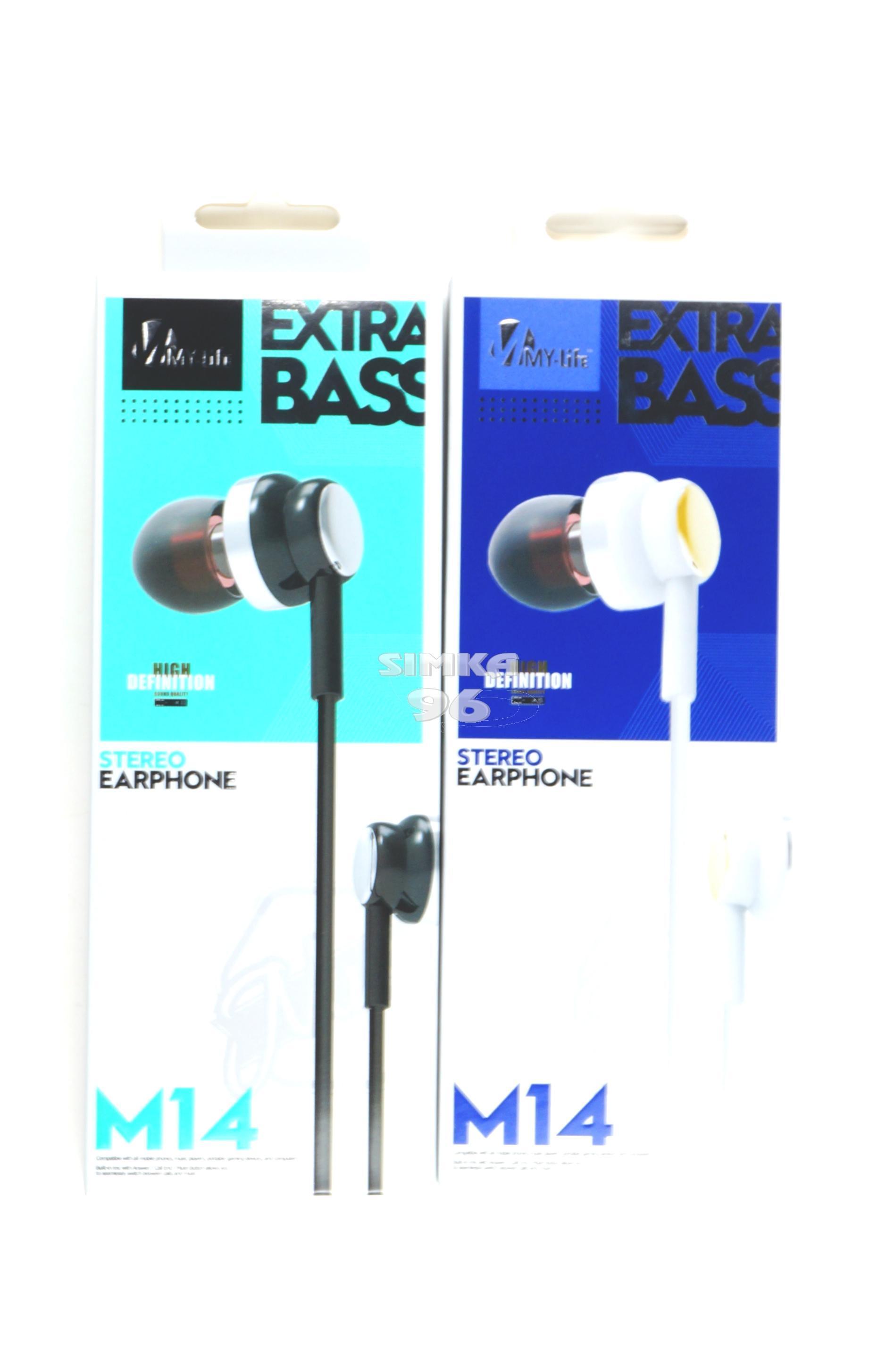 Наушники MY-Life Extra bass M14 вакуумные с микрофоном