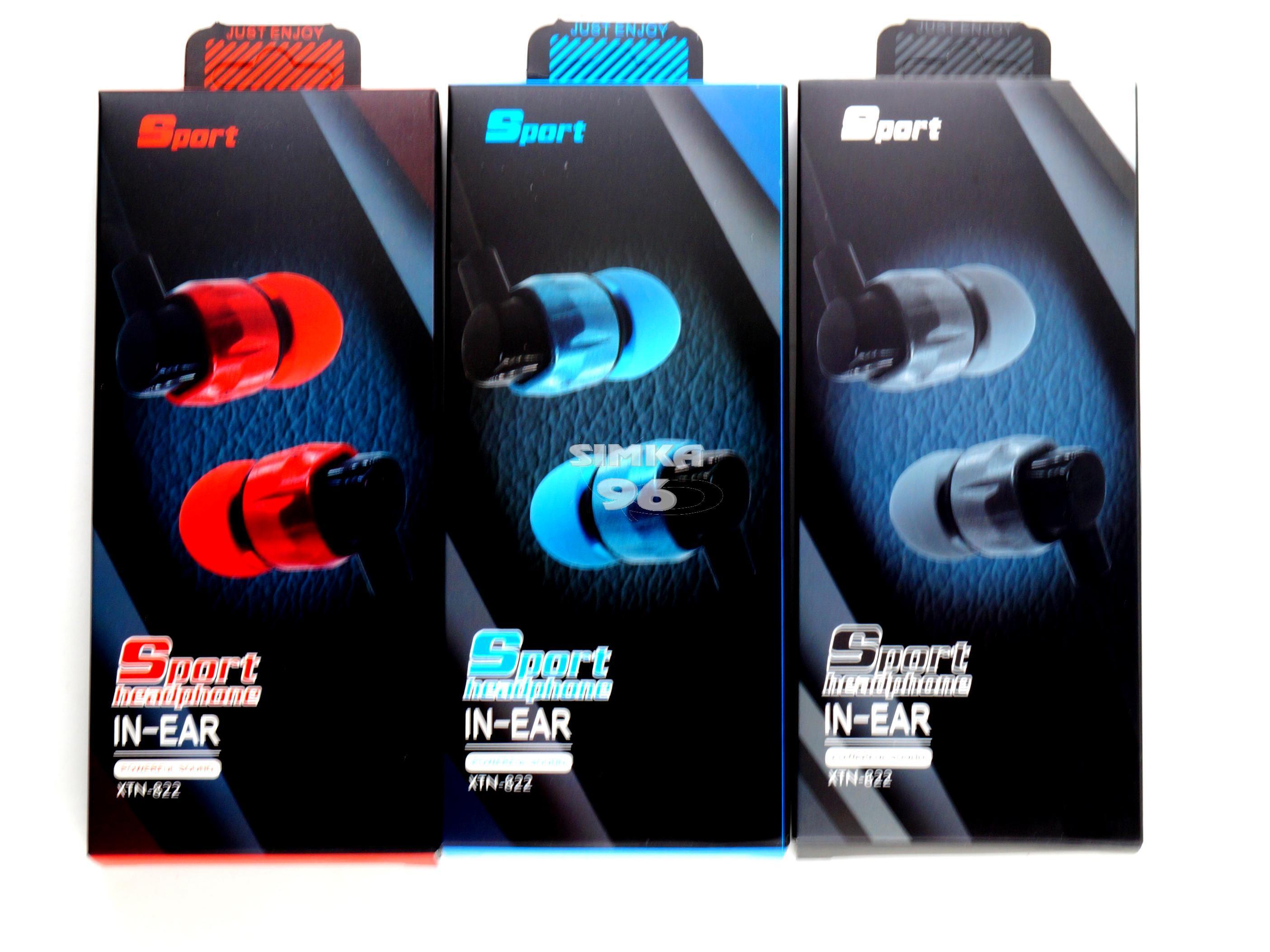 Наушники Sport headphone XTN-822 вакуумные с микрофоном