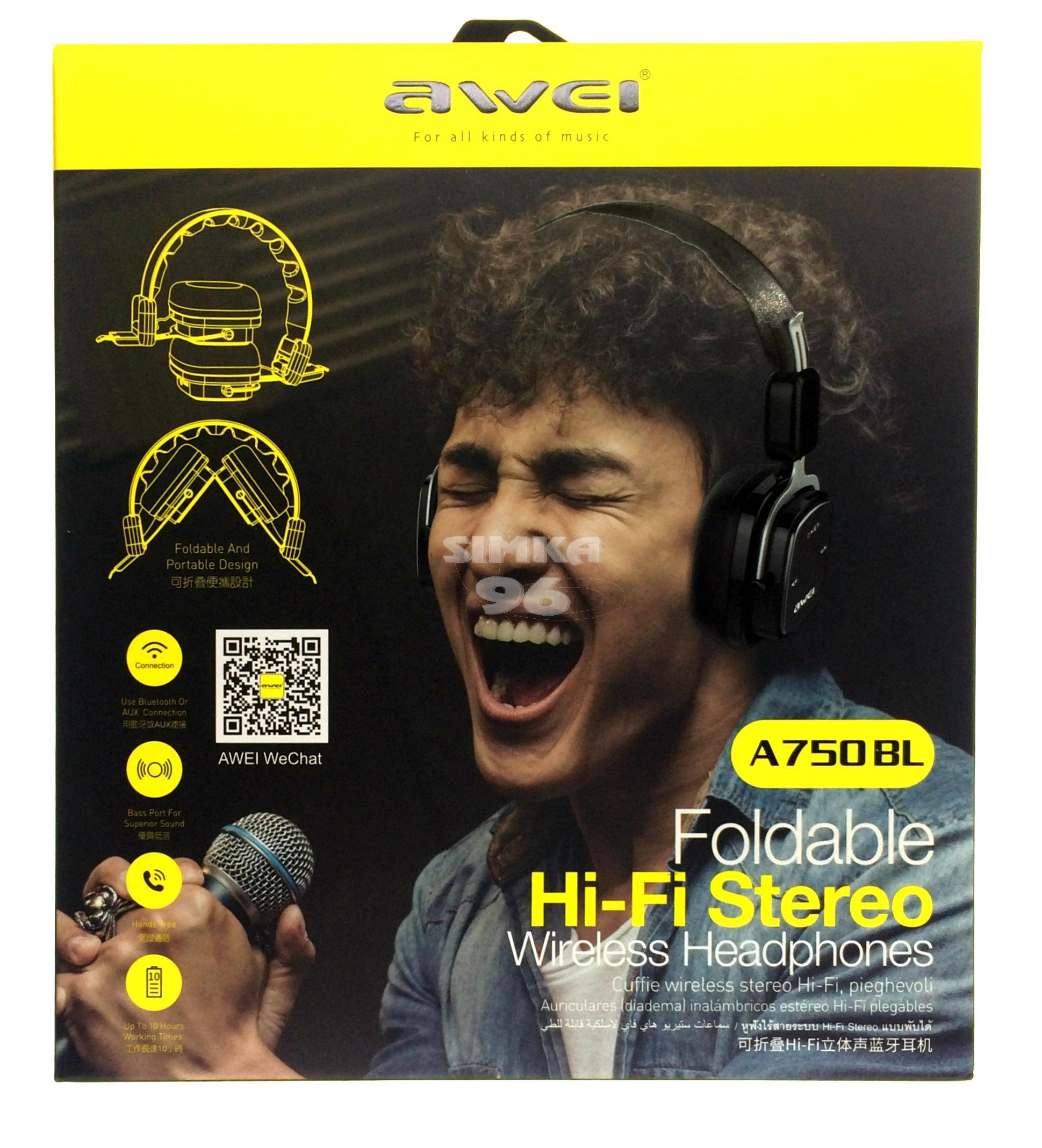 Наушники Bluetooth AWEI A750BL