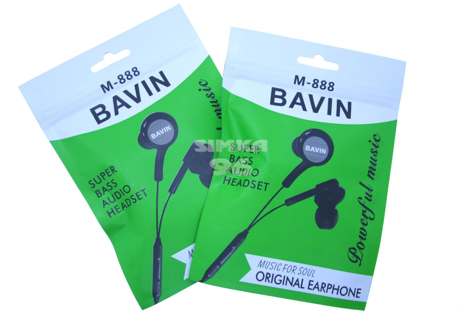 Наушники вакуумные с микрофоном BAVIN M-888