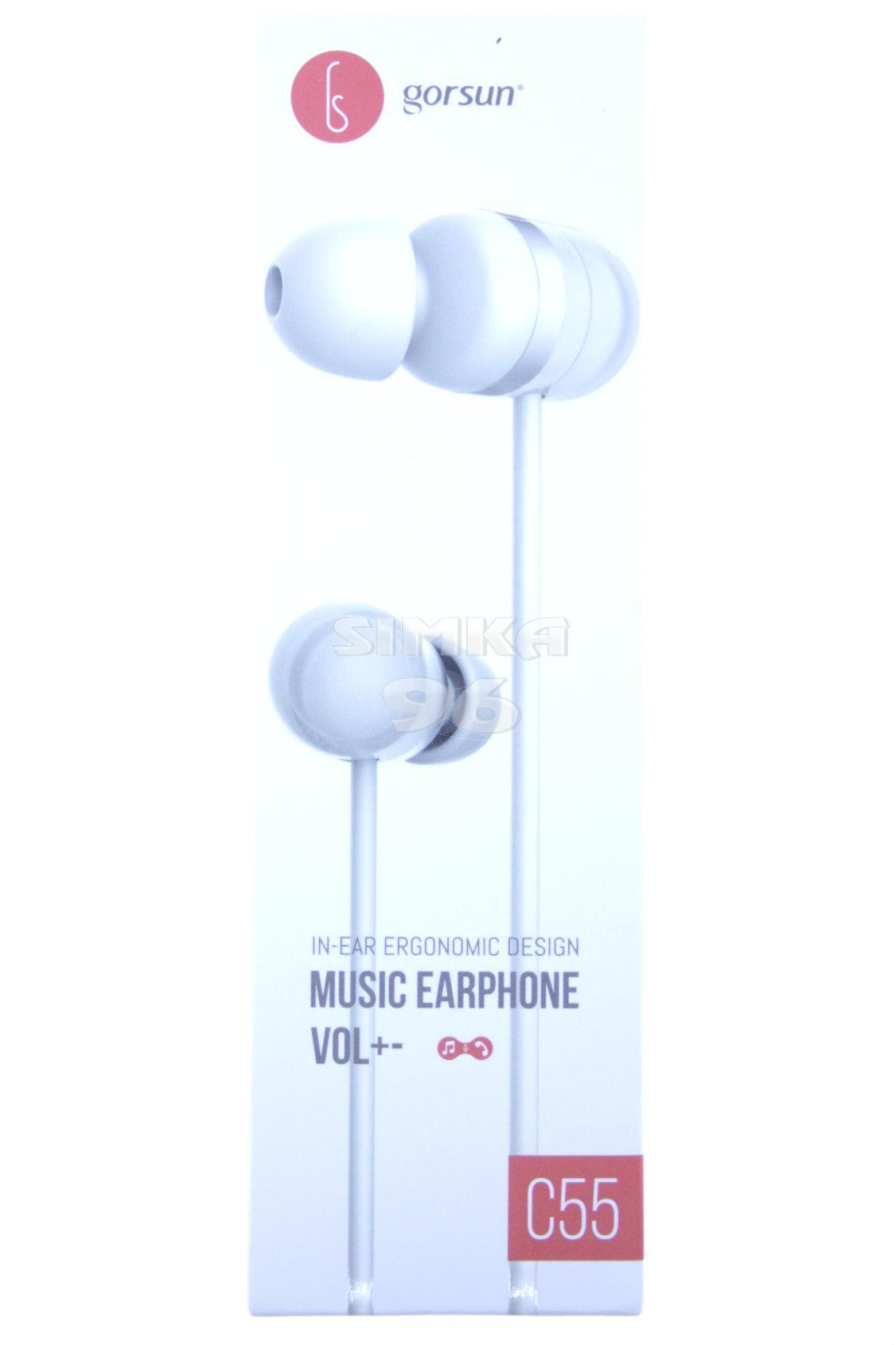 Наушники Gorsun C55 вакуумные с микрофоном