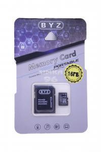 MicroSD BYZ 16Gb 10 class  с картридером