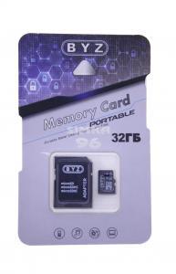 MicroSD BYZ 32Gb 10 class  с картридером