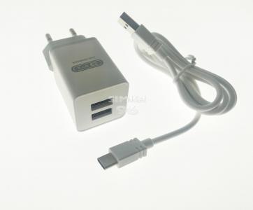 СЗУ  BYZ B37 (Type-C) 2 выхода USB 2.1А