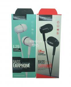 Наушники Bass Earphone L29 вакуумные с микрофоном