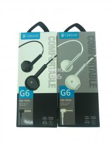 Наушники не вакуумные с микрофоном Celebrat G6