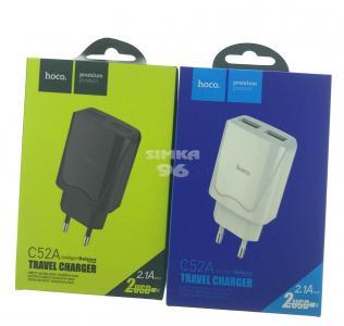СЗУ hoco C52A 2 выхода USB 2.1А