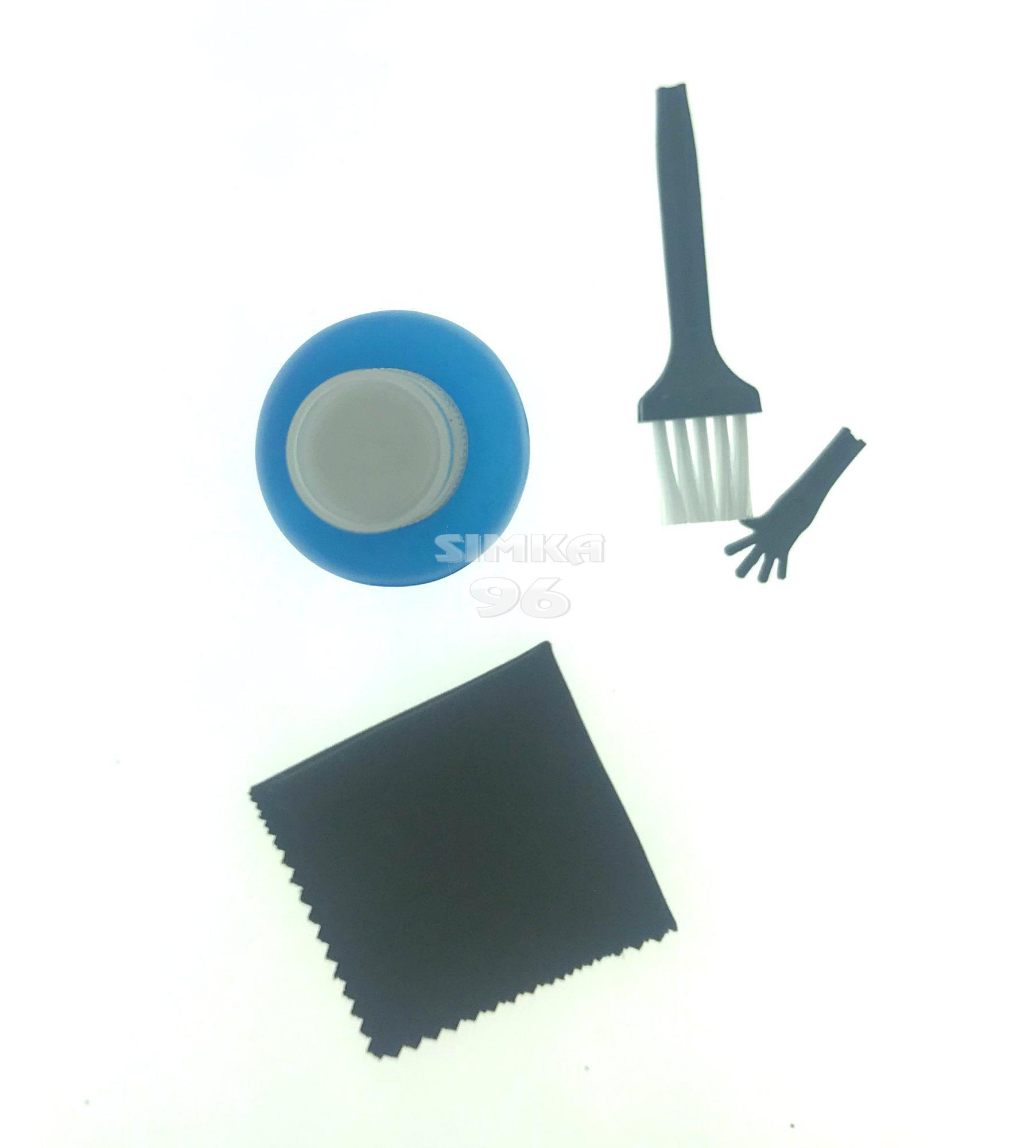 Комплект для наклейки стекл 3/1 (очиститель, микрофибра и кисточка)