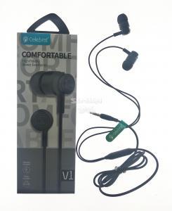 Наушники вакуумные с микрофоном Celebrat V1