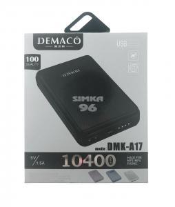 Портативное зарядное устройство Power Bank 10400 mAh Demaсo A17