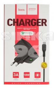 СЗУ 2 в 1 hoco C70A MicroUSB 3.0A Quick Charge
