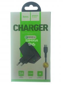 СЗУ 2 в 1 hoco C70A Type-C 3.0A Quick Charge