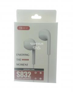 Наушники BYZ- SE832 не вакуумные с микрофоном