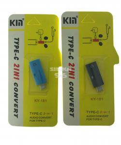 Переходник KM Type-C наушники+зарядка