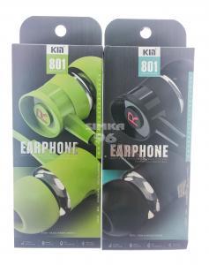 Наушники вакуумные с микрофоном  KM 801